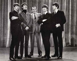 The Beatles appear on the Ed Sullivan show
