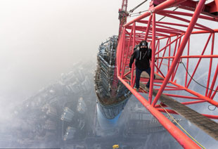 climbing the Shanghai Tower