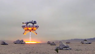 Morpheus space vehicle tested at NASA's Kennedy Space Center