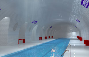 Paris Metro swimming pool