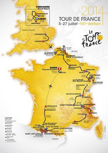 Tour de France 2014 - the route