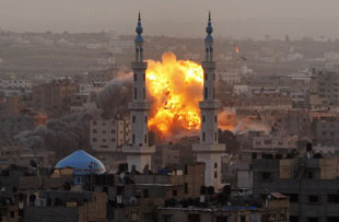 Israel retaliates against Palestinian missle sites in Gaza