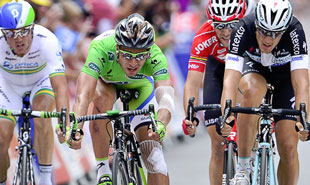 Peter Sagan has the green points jersey all but locked up