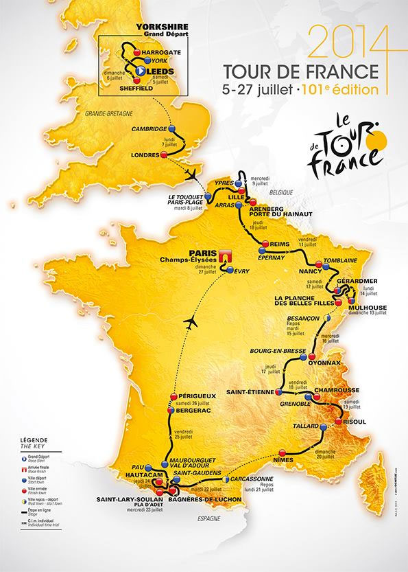 Le Tour, the route