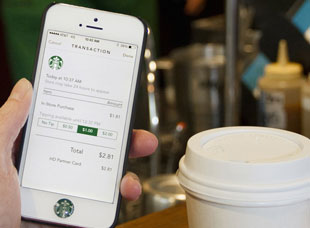 Starbucks payments' app
