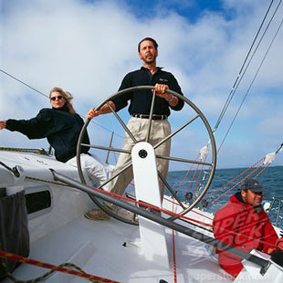 Larry Ellison, at the helm