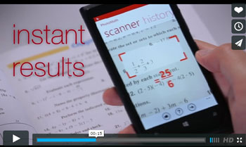 PhotoMath app solves math problems with visual search