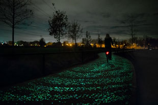 Starry Night bicycle path