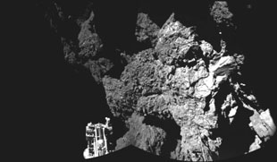 ESA pictures of comet 67P
