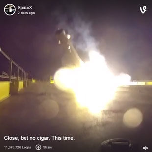 SpaceX booster landing: close but no cigar