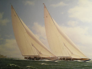 J Class yachts racing (1937 America's Cup)
