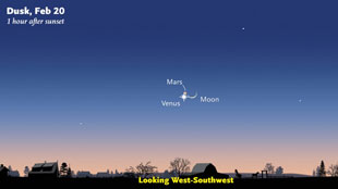 Mars / Venus Conjunction tonight