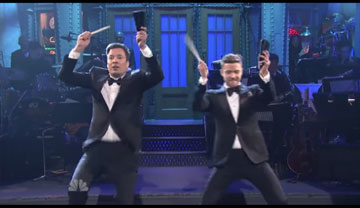 more cowbell: Jimmy Fallon and Justin Timberlake open the SNL 40 year anniversary
