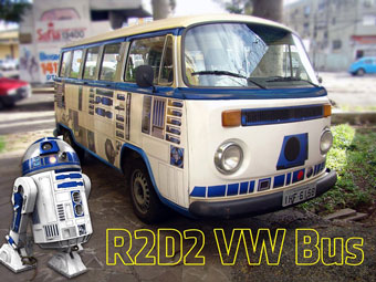 R2-D2 themed Volkswagen bus