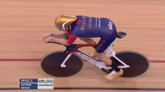 Brad Wiggens sets new hour record: 54.526km