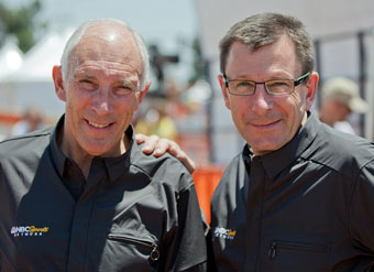 Phil Liggett and Paul Sherwen, deans of cycling announcers