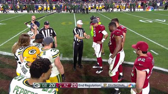 Green Bay vs Arizona - the coin flip