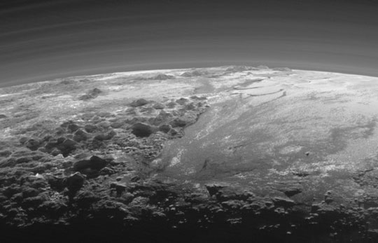 Sunset on Pluto!
