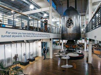 behind the curtain: Blue Origin's headquarters