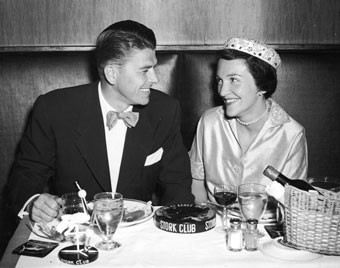 the Reagans in 1952 at the Stork Club