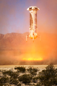 Blue Origin once again launch a rocket to space (100km) ... and land it back on Earth
