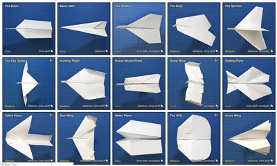 paper airplanes!