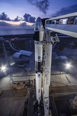 SpaceX: demo-2 from the gantry