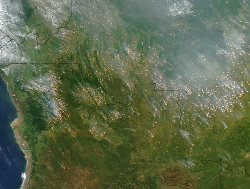 Fire Season Roars to Life in Central Africa