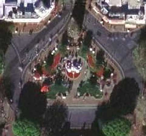 Bird's-eye view of Disneyland