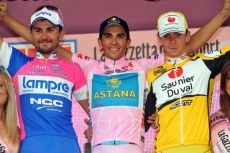 the 2008 Giro podium