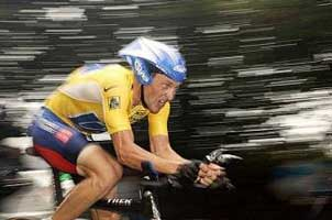 Lance Armstrong - time trial, stage 20 of 2005 Tour de France