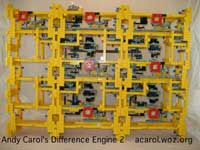 Difference Engine made from Lego