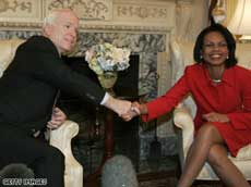 John McCain with Condoleezza Rice