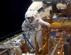 NASA spacewalking pictures
