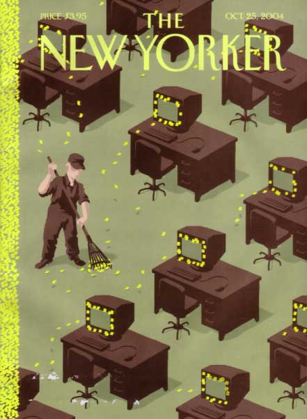 """autumn chores"" - New Yorker cover 10-25-04"