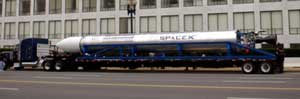 SpaceX Falcon unveiling at FAA HQ in Washington