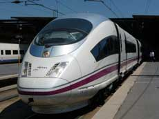 Spanish high-speed train