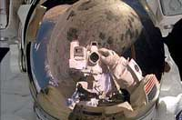 shuttle astronaut self-portrait