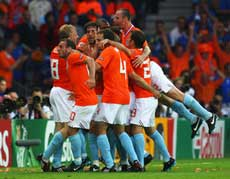 Holland over Italy 3-0 in Euro 2008