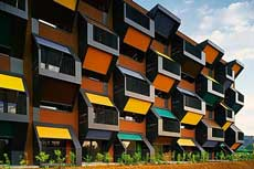 honeycomb housing in Solvenia
