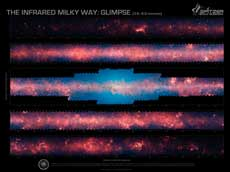 Milky Way infrared mosaic image