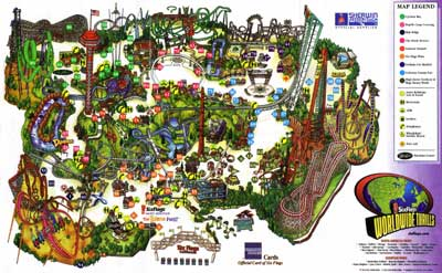 Map: Six Flags Magic Mountain
